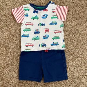 Baby Boden Shorts & T - Size 12-18 mos